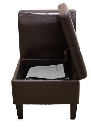 Corner II LTD PS00179  Leather Wood Frame Accent Chair