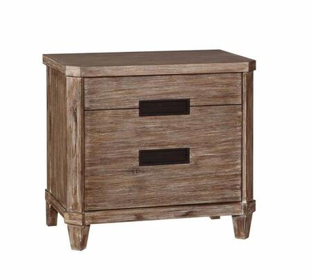 Donny Osmond Home 203542 Madeleine Series Rectangular Wood Night Stand
