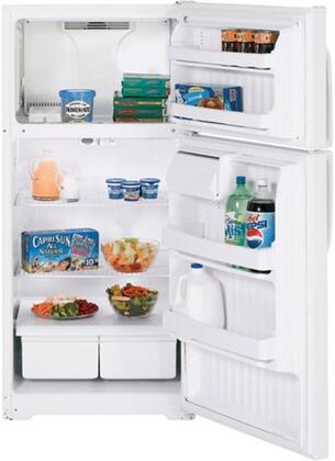 GE GTH16BBXRWW Freestanding Top Freezer Refrigerator with 15.5 cu. ft. Total Capacity 2 Wire Shelves 4.1 cu. ft. Freezer Capacity |Appliances Connection