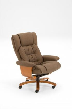 Mac Motion VINCIOFFICE91X103 Nubuck Bonded Leather Swivel, Recliner with Ottoman