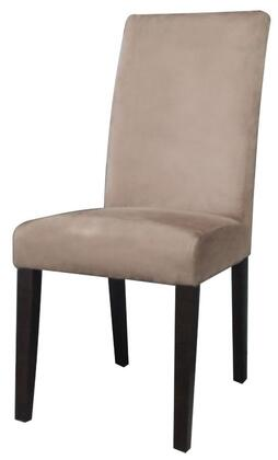 Chintaly MARIAPRSSC Maria Series Armless Wood Frame Accent Chair