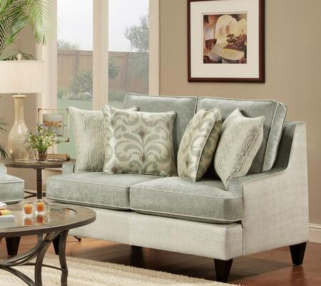 Chelsea Home Furniture 63212802 Catania Loveseat with 8.5 Gauge Medium Loop Sinuous Wire, Heat Tempered Coils and White Conjugated Hollow Fill Polyester Fiber Blown Back Cushions in