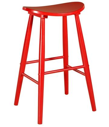 Linon 42911RED01KDU Commercial or Residential No Upholstered Bar Stool