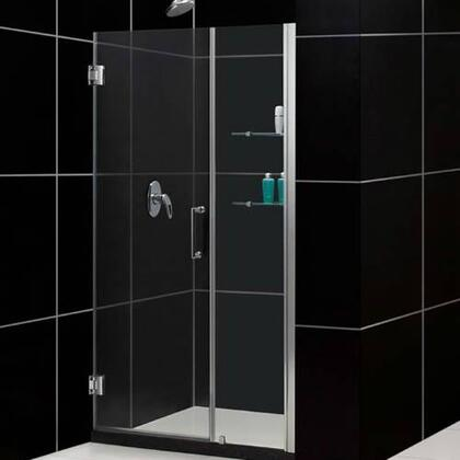 DreamLine SHDR-20487210S Frameless Adjustable Shower Door With Reversible For Right Or Left Door Opening, Self-Closing Solid Brass Wall Mounted Hinges (5 Degree Offset) & In