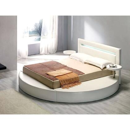 VIG Furniture VGKCPALAZZOQWHT  Queen Size Platform Bed