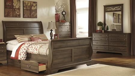 Milo Italia BR311QSLBDMC Krueger Queen Bedroom Sets
