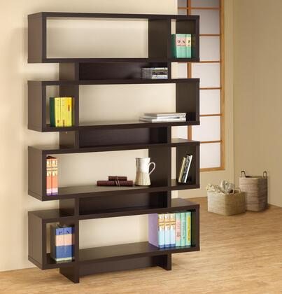 Coaster 800307 Bookcases Series Wood 8 Shelves Bookcase