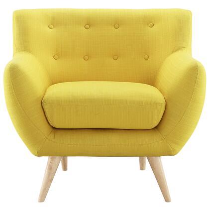 Modway EEI1631SUN Remark Series Armchair Polyester Wood Frame Accent Chair