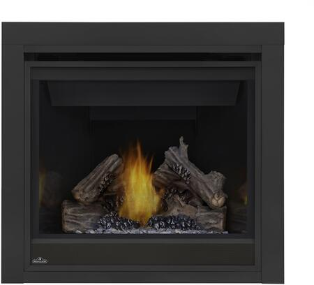 "Napoleon Ascent Series B36N 35"" Direct Vent Natural Gas Fireplace with Electronic Ignition or Millivolt Ignition, Up to 18,000 BTU's, Pan Style Burner, Standard Safety Barrier, PHAZER Log Set, Back-Up Control System and Tempered Heat Resistant Glass"