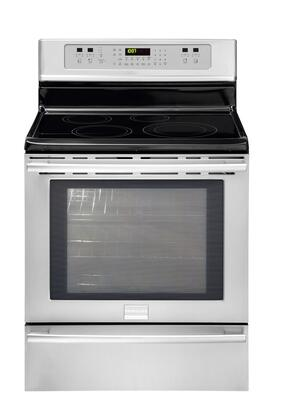 Frigidaire FPIF3093LF Professional Series Electric Freestanding Range with 4 Smoothtop Cooktop Warming 6 cu. ft. Primary Oven Capacity |Appliances Connection