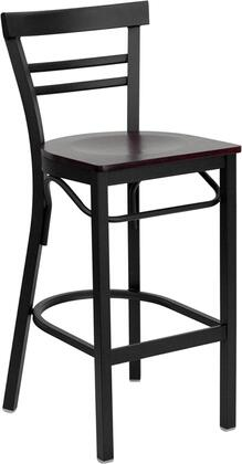 Flash Furniture XUDG6R9BLADBARMAHWGG Hercules Series Not Upholstered Bar Stool