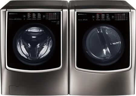 LG Signature 714564 Black Stainless Steel Washer and Dryer C