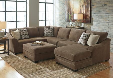 Milo Italia MI3939SECOTRTEAK Audrina Living Room Sets