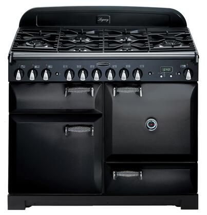 AGA ALEG44EBLK Legacy Series Electric Freestanding Range with Smoothtop Cooktop, 2.2 cu. ft. Primary Oven Capacity, Storage in Black