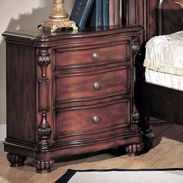 Yuan Tai CR1000N Corina Series Rectangular Wood Night Stand