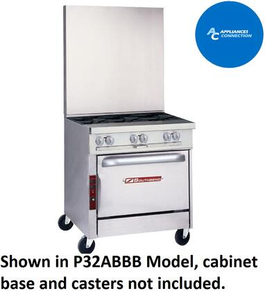 """Southbend P32BBB Platinum Series 32"""" Sectional Open-Top Range with Stainless Steel Construction, Six Standard Non-Clogging BurnersUp to 32000 BTUs (Natural Gas)/30000 BTUs (Liquid Propane)"""