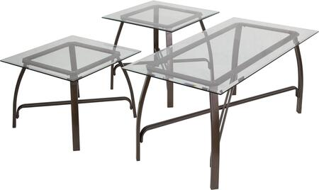 Liddy 3 Piece Occasional Table Set