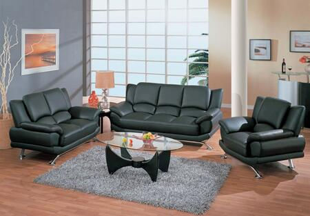 Global Furniture USA 9908BLSLC Contemporary Leather Living Room Set