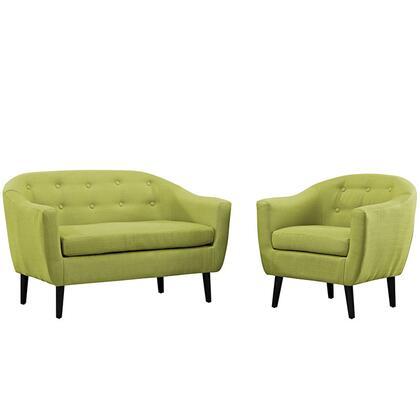 Modway EEI1770WHESET Modern Fabric Living Room Set