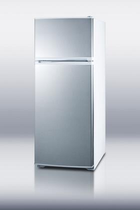 Summit FF1062WSS Freestanding Counter Depth Top Freezer Refrigerator with 9.41 cu. ft. Total Capacity 3 Glass Shelves