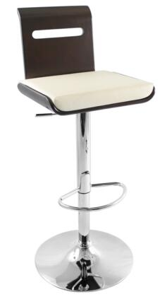 LumiSource BSJYVIERAWNG Viera Series Residential Bycast Leather Upholstered Bar Stool