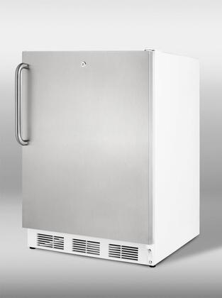 "Summit VT65MLSSTBADA24"" Freestanding Upright Counter Depth Freezer"