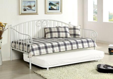 Furniture of America CM1603WH Hamden Series  Twin Size Bed