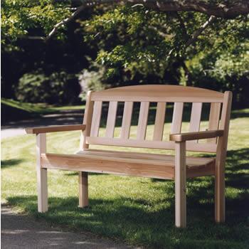 All Things Cedar GB48U Traditional Cedar Frame Armed Patio Benches