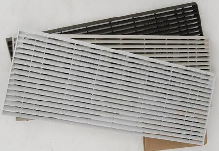 Amana PGK01 Exterior Louvered Polymer Blend Grille with Exterior Chemical and UV Protective Coating: