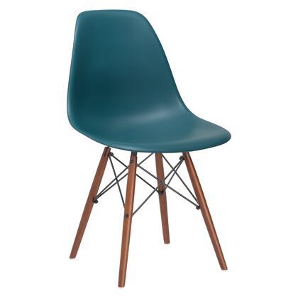EdgeMod EM105WALTEA Vortex Series Modern Wood Frame Dining Room Chair