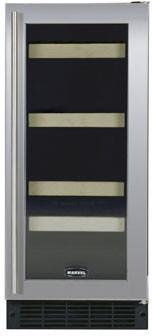 "Marvel 3SBAREBSGL 14.875"" Built In Wine Cooler, in Stainless Steel Frame Glass Door"
