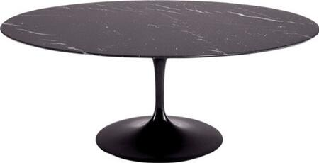 "Fine Mod Imports FMI10024 78"" Marble Oval Flower Table In"