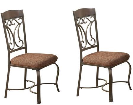 Acme Furniture 71407 Jaimey Series Fabric Metal Frame Dining Room Chair