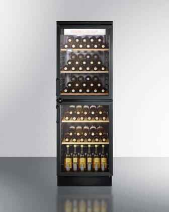 """Summit SWC1775 24"""" Freestanding Wine Cooler"""