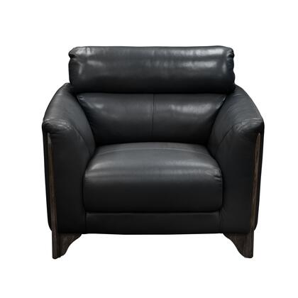 """Diamond Sofa Monaco MONACOCH 40"""" Chair with Blended Leather Upholstery, Tapered Arm Design, Ash Wood Trim and Feet in"""