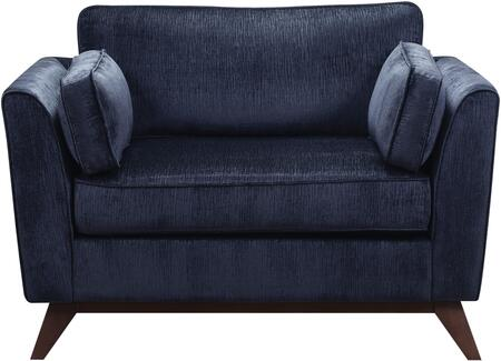 Donny Osmond Home 505526 Amsterdam Series Fabric Armchair with Wood Frame in Midnight