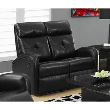 "Monarch I 88BY 50"" Reclining Loveseat with Bonded Leather, Lumbar Support and Comfortably Padded"
