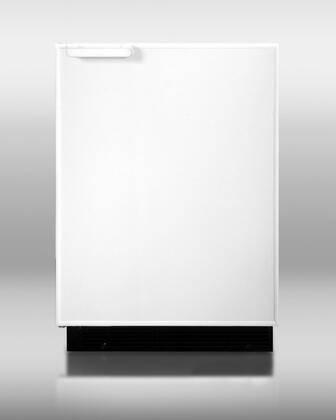 """Summit BI605R 24"""" Freestanding Apartment Refrigerator with 6.1 cu. ft. Capacity, 3 Wire Shelves"""