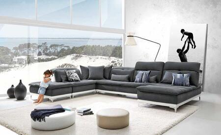 VIG Furniture VGFTHORIZON Lusso Horizon Series Stationary Fabric Sofa