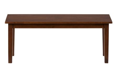 Jofran 45214KD Simplicity Series Kitchen Armless Wood Bench