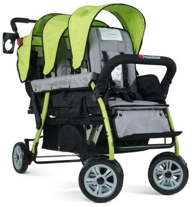 """Foundations Sport Splash Collection 4130XXX 56"""" 3-Passenger Stroller with Ergonomic Handle, Canopy and Rubberized Foam Wheels"""