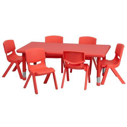 Flash Furniture YUYCX00132RECTTBLREDEGG