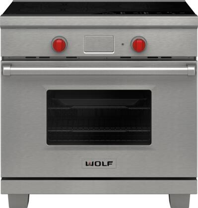 36 Electric Range >> Wolf Ir365pesph 36 Inch Stainless Steel Induction Electric Convection Freestanding Range