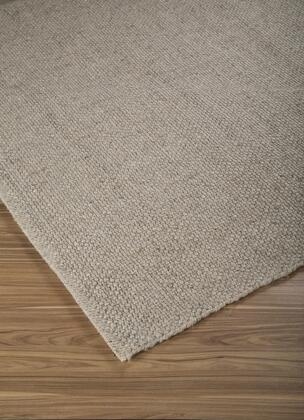 """Milo Italia Taliyah RG418328TM """" x """" Size Rug with Solid Design, Hand-Woven, Spot Clean Only and Wool Material Blended with Viscose in Brown Color"""