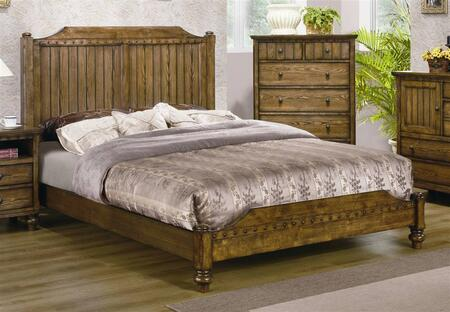 Yuan Tai DA4400 Dartmouth Panel Bed in a Warm Oak Finish