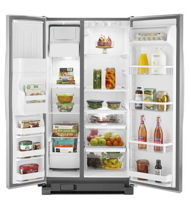 Whirlpool Wrs325fdam 36 Inch Side By Side Refrigerator In