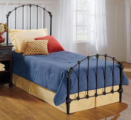 Hillsdale Furniture 346BR Bonita Panel Bed Set with Rails Included, Timeless Style and Metal Construction in Copper Mist Finish