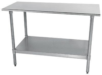 Flat Top Work Table, 4 legs