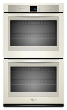 "Whirlpool WOD51EC7A 27"" Double Electric Wall Oven With 4.3 Cu. Ft. Per Oven, Self-Cleaning, Hidden Bake Element, SteamClean Option, 4 Oven Racks, Sabbath Mode, In"