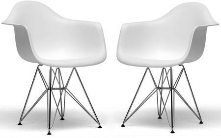 Wholesale Interiors DC622CWHITE Dario Series  Accent Chair